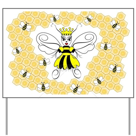 Queen Bee Yard Sign by Admin_CP70839509.