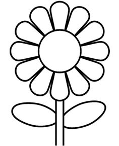 sun flower clipart black and white 2 Clipart Station.