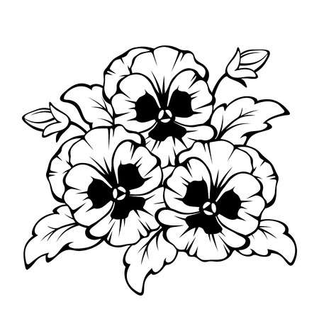Flowers Clipart Black And White & Free Flowers Clipart Black.