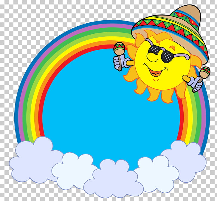 Rainbow , The sun before the rainbow PNG clipart.