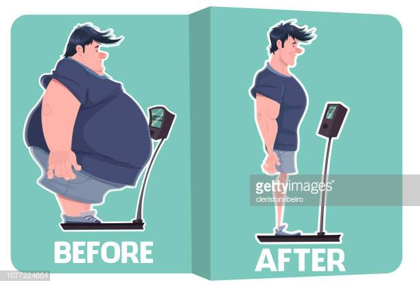 60 Top Weight Loss Before And After Stock Illustrations, Clip art.
