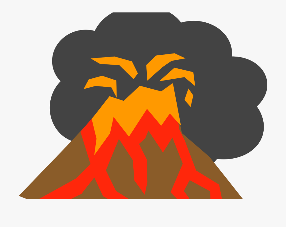 Transparent Background Volcano Eruption Clipart.