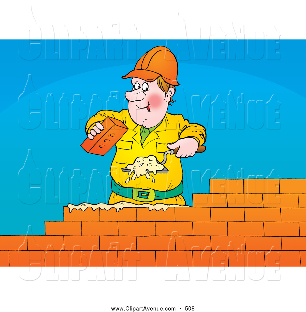 Building a Brick Wall Clipart Free.