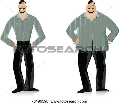 Clipart of Before and After diet 2 k5190590.
