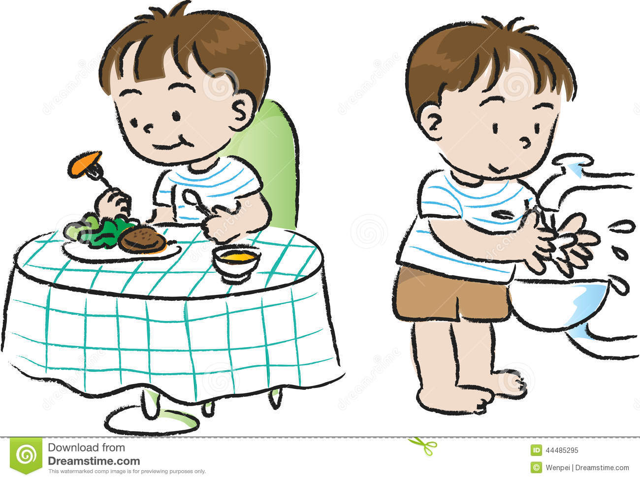 Before clipart clipground for Cuisine you eat with your hands