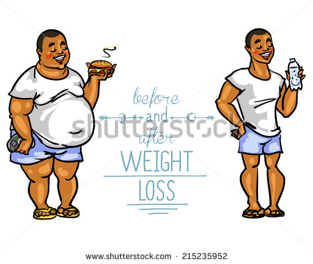 Before And After Weight Loss Clipart.