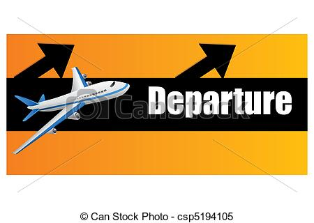 Clipart Vector of departure plane.
