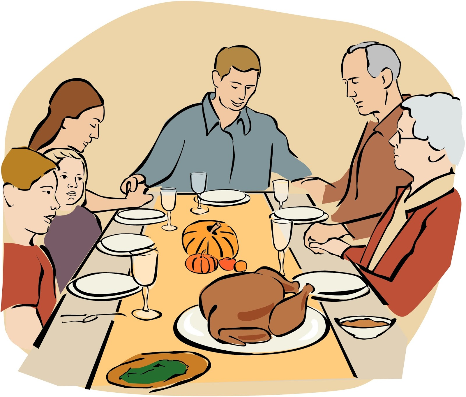 Family Meal Clipart.