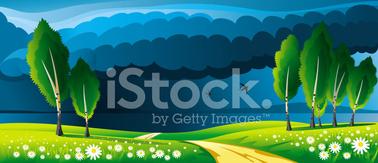Landscape Before Rain stock vectors.