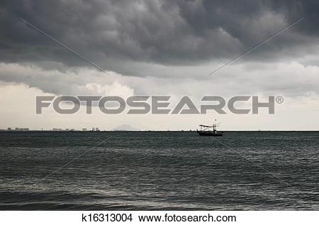 Stock Photo of Overcast sky before rain is heavy. k16313004.