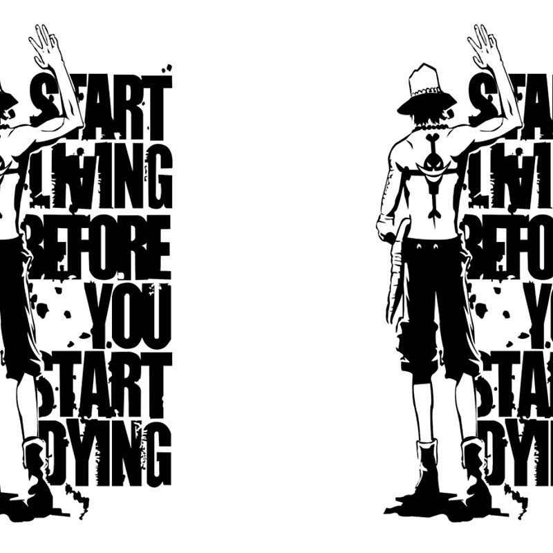 One Piece Start Living Before You Start Dying Portgas D. Ace Anime.