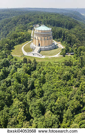 """Pictures of """"Aerial view, Befreiungshalle or Hall of Liberation."""