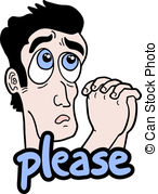 Begging Please Clipart.
