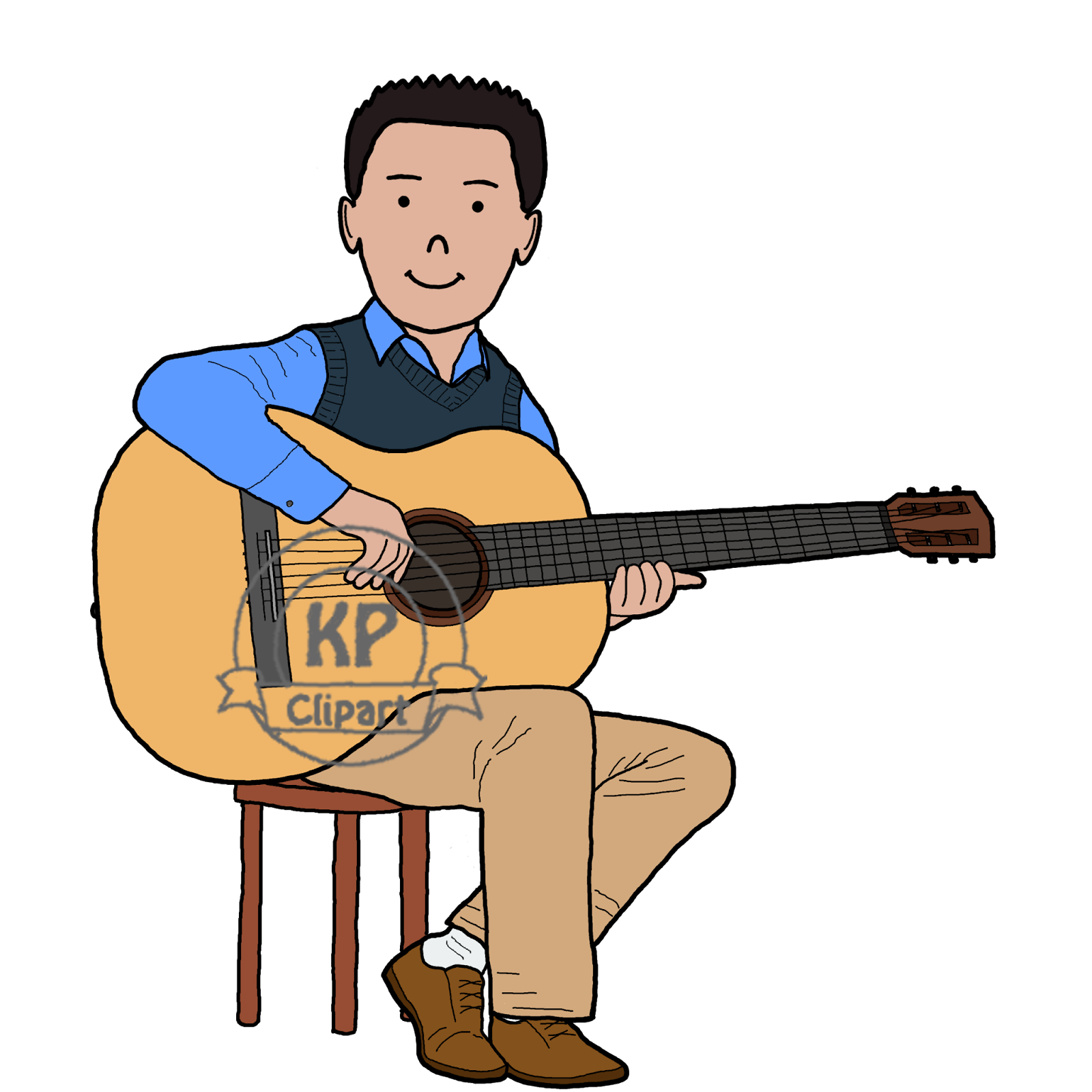 KP Clipart: Friends Playing Music.