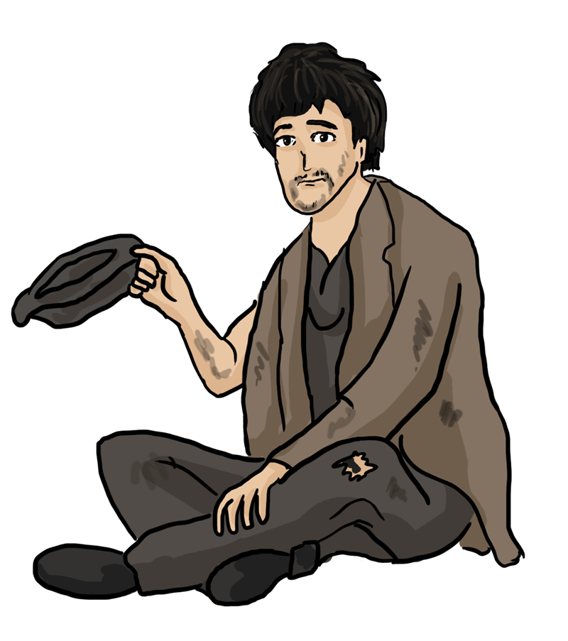 Free to Use & Public Domain Beggar Clip Art.