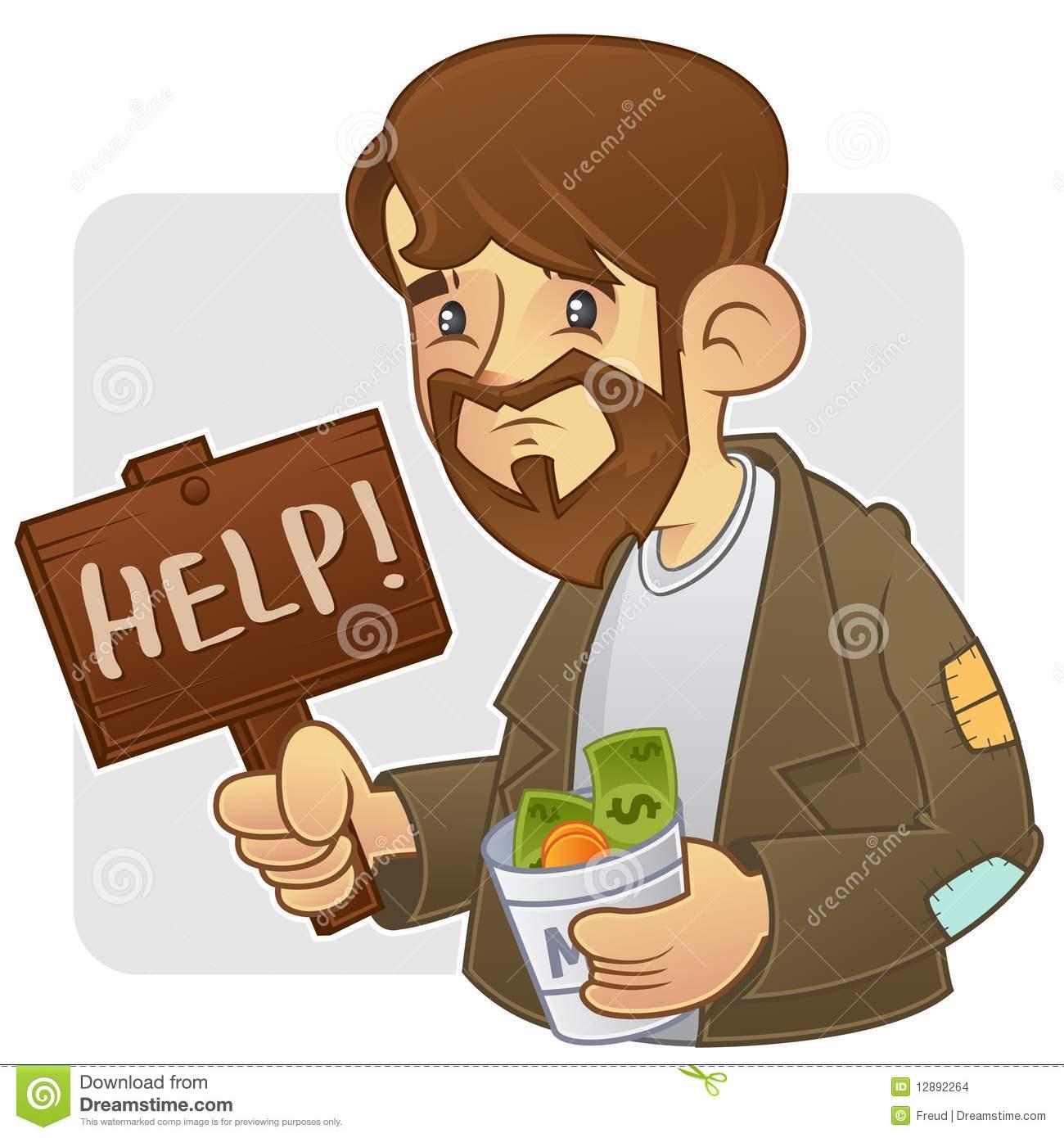 Beggar Stock Illustrations.