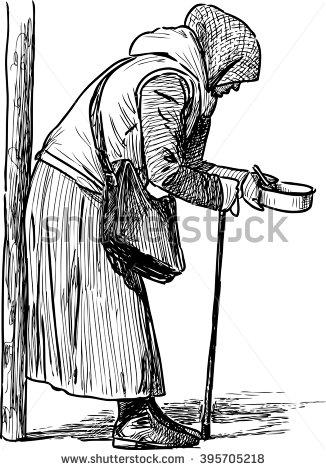 Indian beggar clipart.