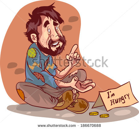 Indian beggar clipart.