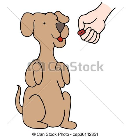 Dog Begging Treat.