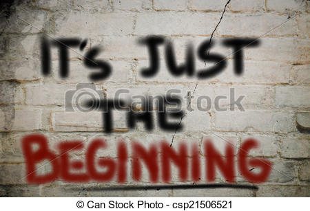 Clip Art of It's Just The Beginning Concept csp21506521.