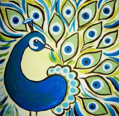 free peacock painting.