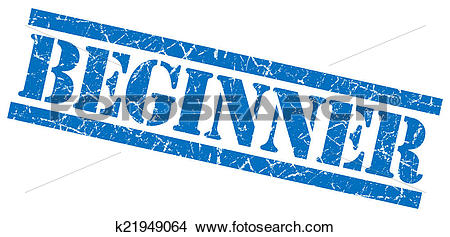 Drawings of beginner blue square grungy isolated rubber stamp.