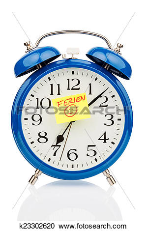 Stock Photography of alarm clock on vacation beginning k23302620.