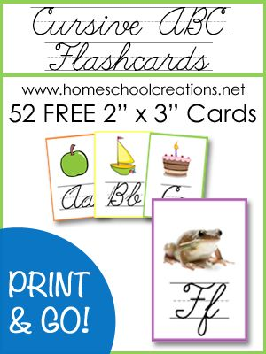Cursive ABC Flashcards and Posters.