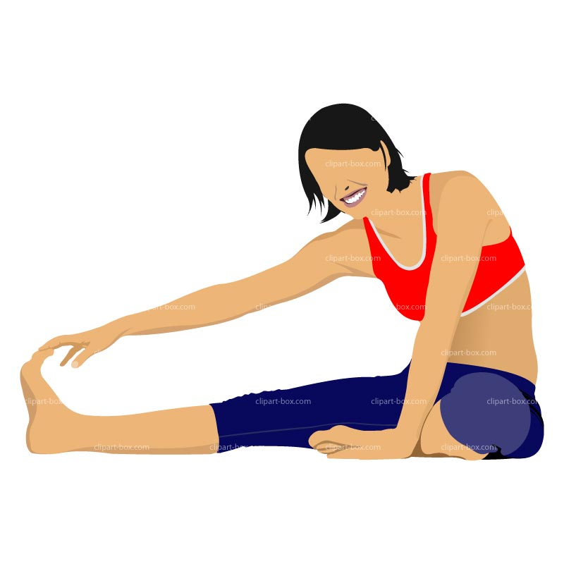Clip Art for Beginners Stretching Exercises.