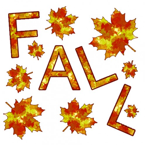 Free printable clip art fall leaves.