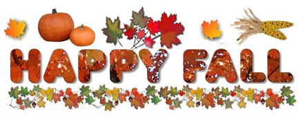 Free clipart for first day of autumn.