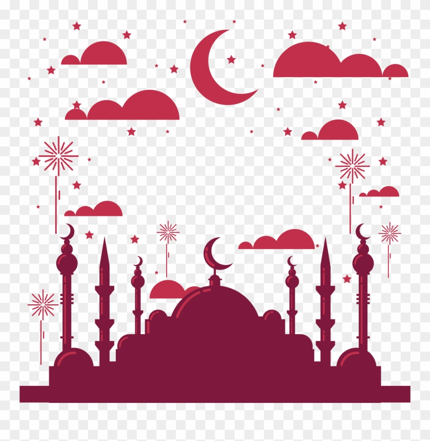 Surabaya Church Islamic Year Festivals Red Wine Clipart.