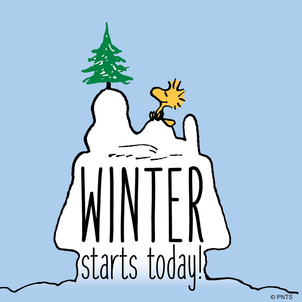 "PEANUTS on Twitter: ""It's the first day of winter! ❄   https://t."