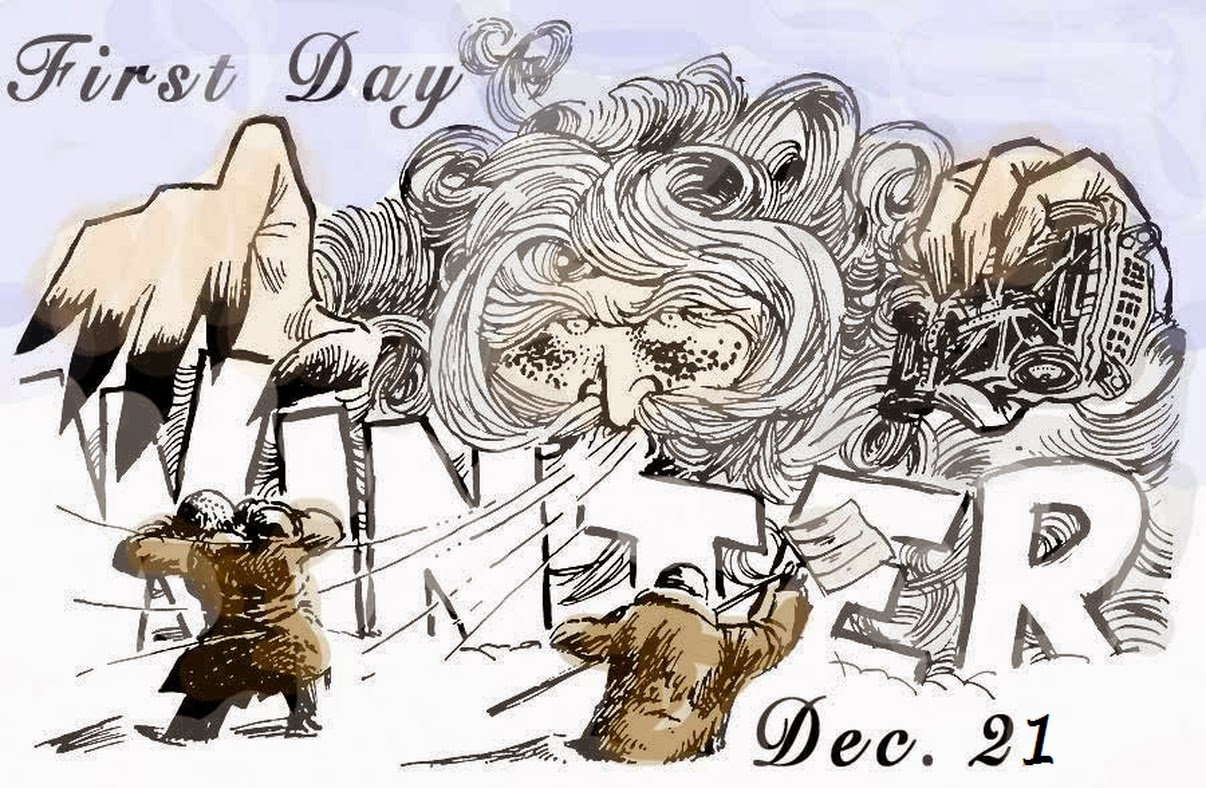 Holiday clipart first day winter.