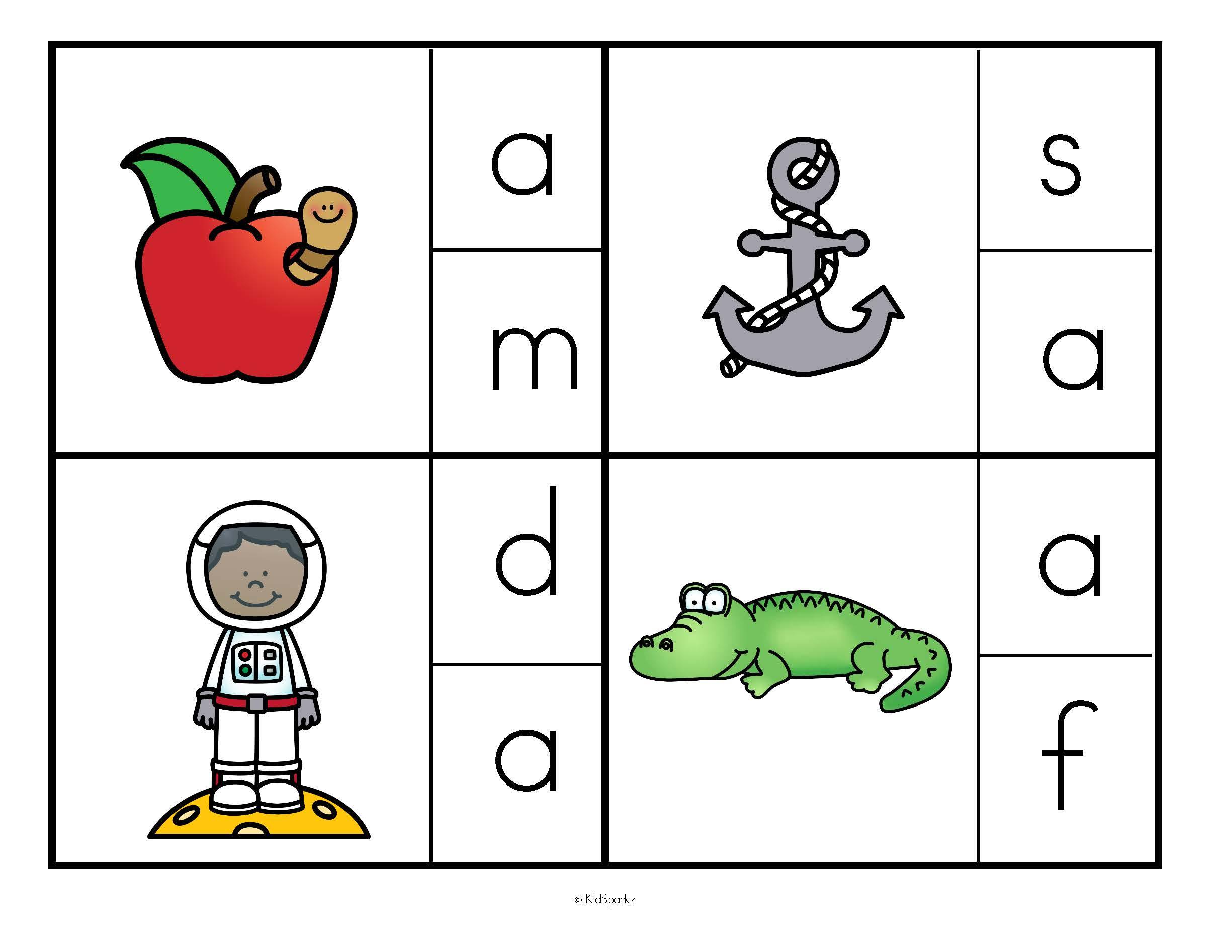 Alphabet Beginning Sounds Clip Cards.