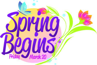 Spring Begins Clipart.