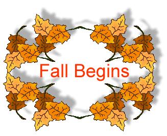 Fall begins clipart.