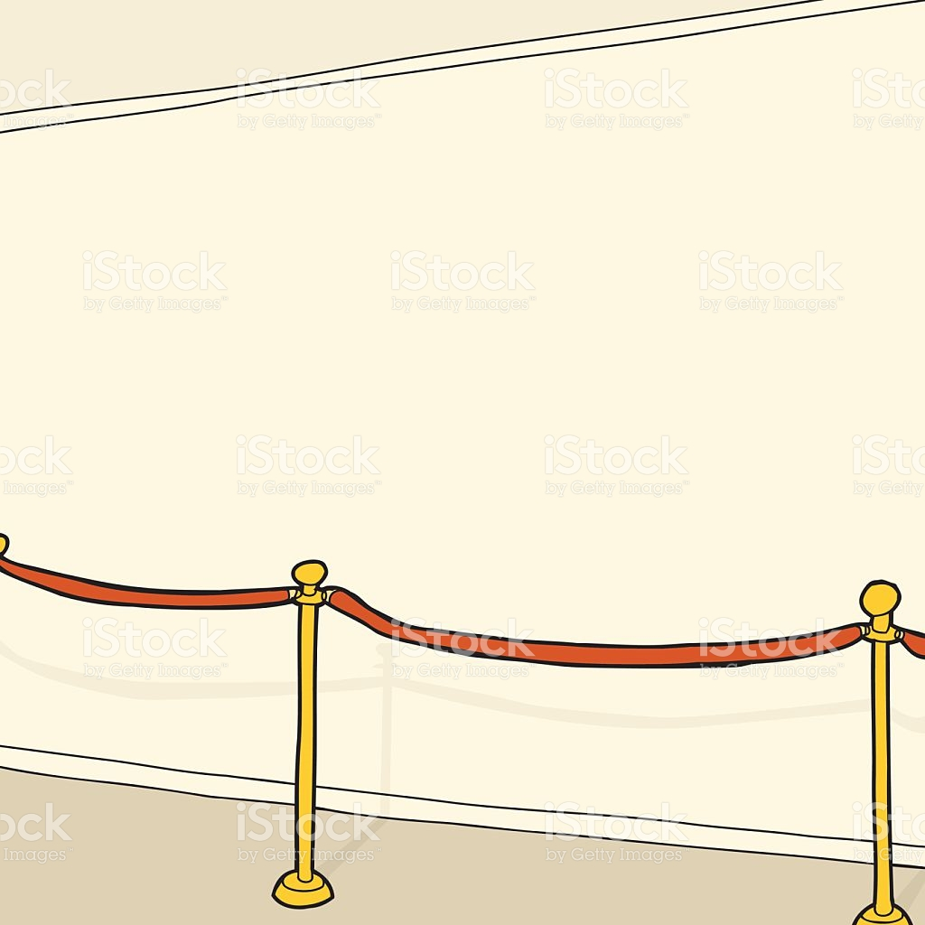 Stanchion Und Leere Wand Vektor Illustration 537291533.
