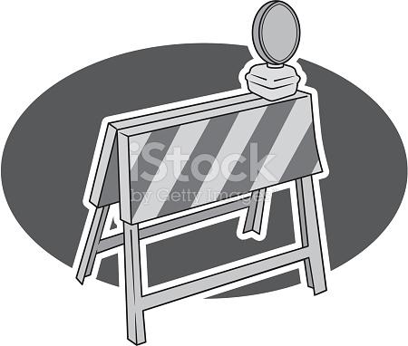 Baustellenabsperrung Vektor Illustration 177463480.