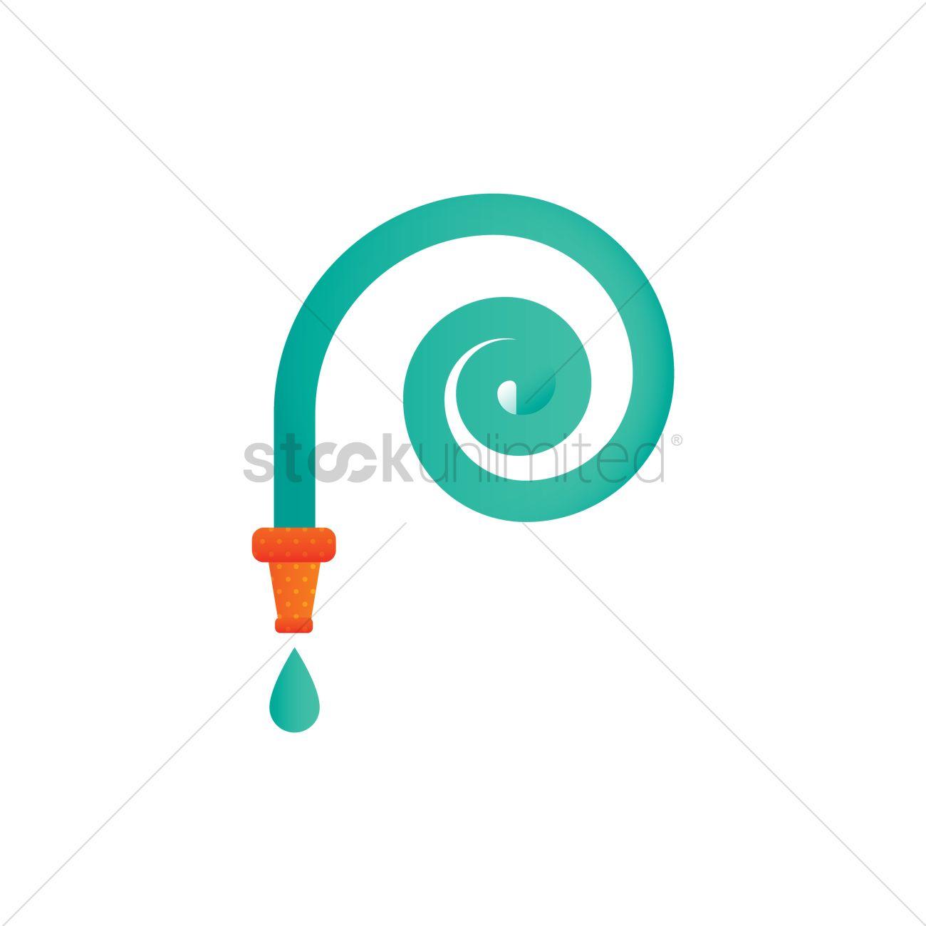 Garden hose Vector Image.