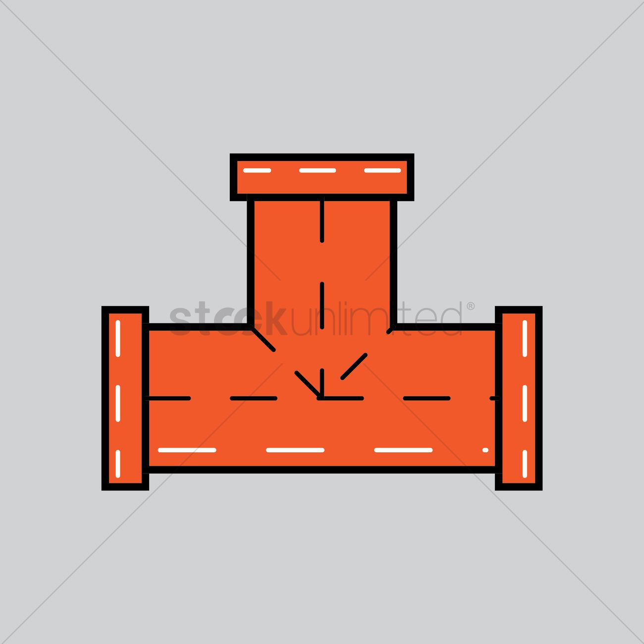 T connector pipe Vector Image.