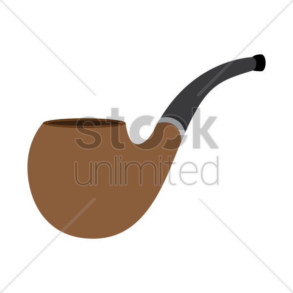 Smoking pipe Vector Image.