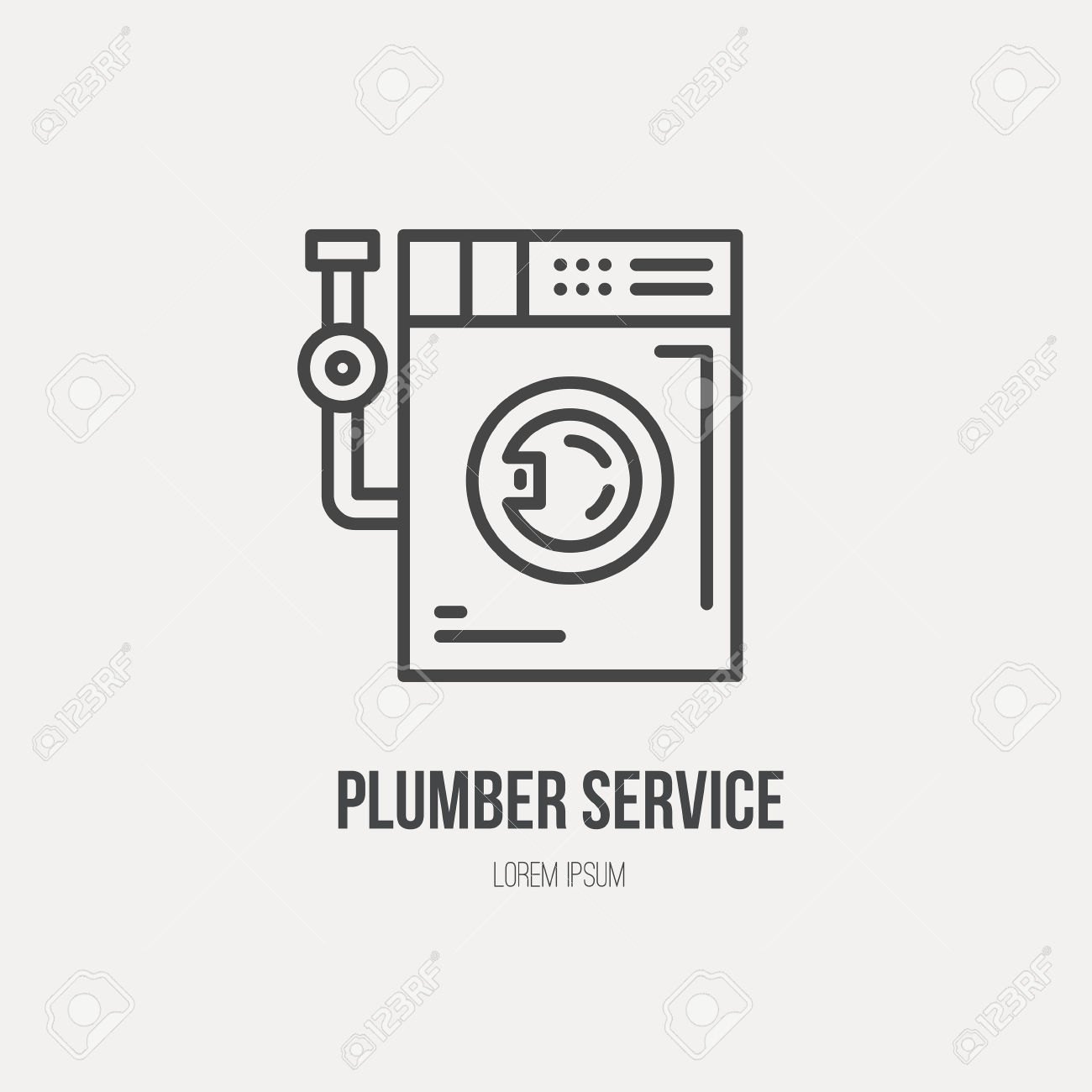 Modern Line Style Logo For Repair Cpmpany Or Plumbing Service.
