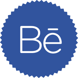 Simple Badge Behance Icon, PNG ClipArt Image.