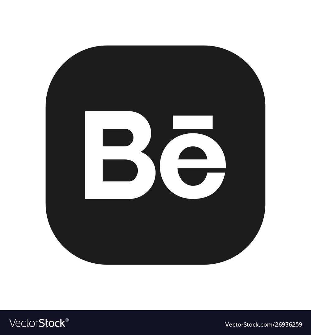 Social media symbol behance.