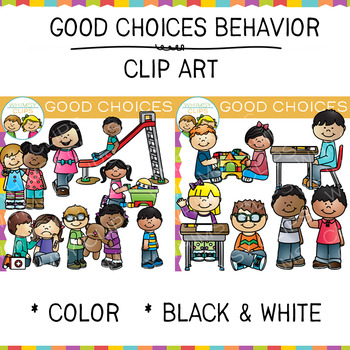 Good Choices Behavior Clip Art by Whimsy Clips.