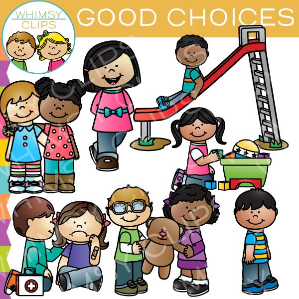 Good Choices Behavior Clip Art.