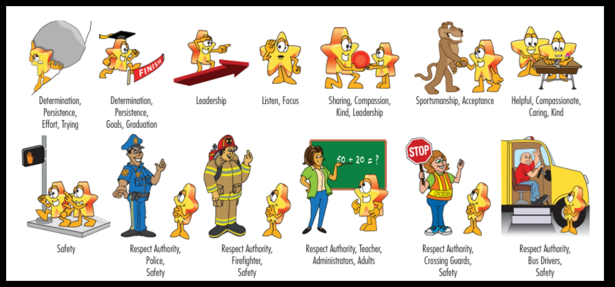 School behavior clipart.