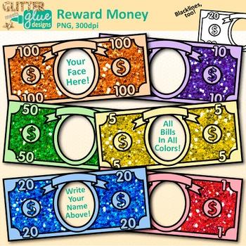 Classroom Reward Money Clip Art: Behavior Management {Glitter.