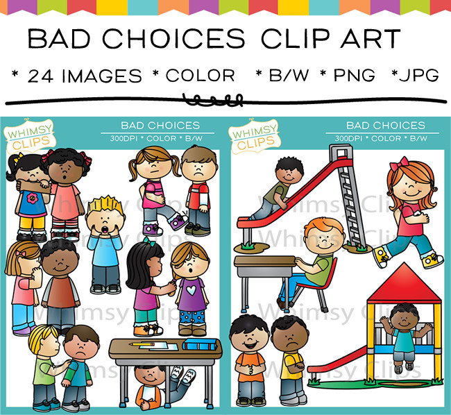 Helping student with behavior clipart.